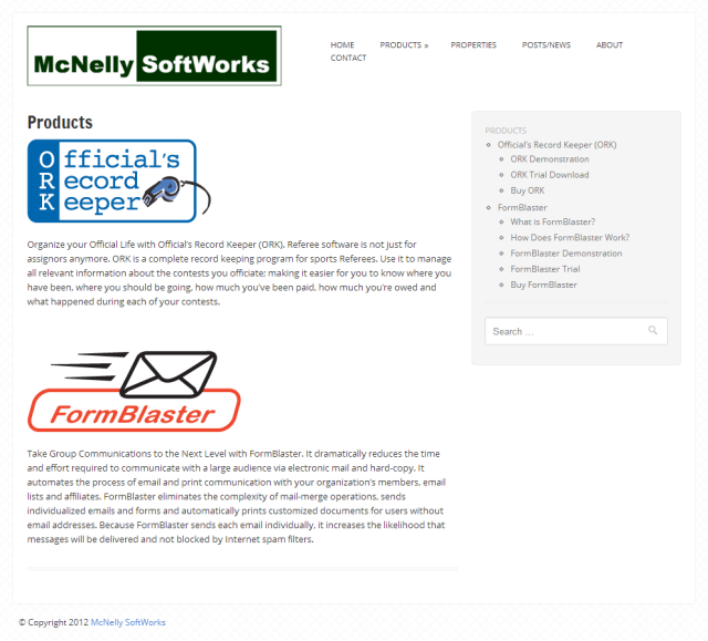 McNelly SoftWorks web site