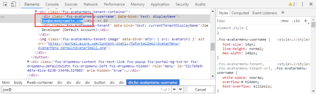Chrome Developer Tools: Searching Text